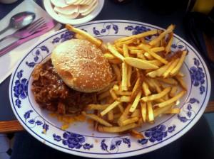 BBQ Pork Loin & Cheese Sandwich