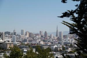 Downtown San Francisco vanaf Buena Vista Park