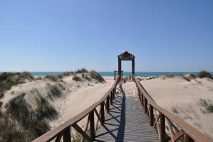 Het strand bij Cadiz