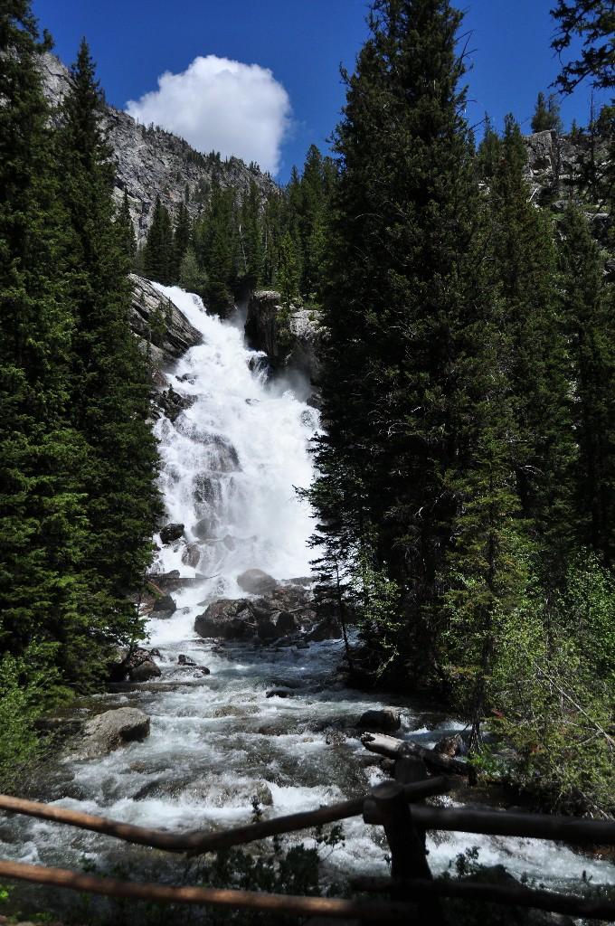 Hidden Falls bij Jenny Lake