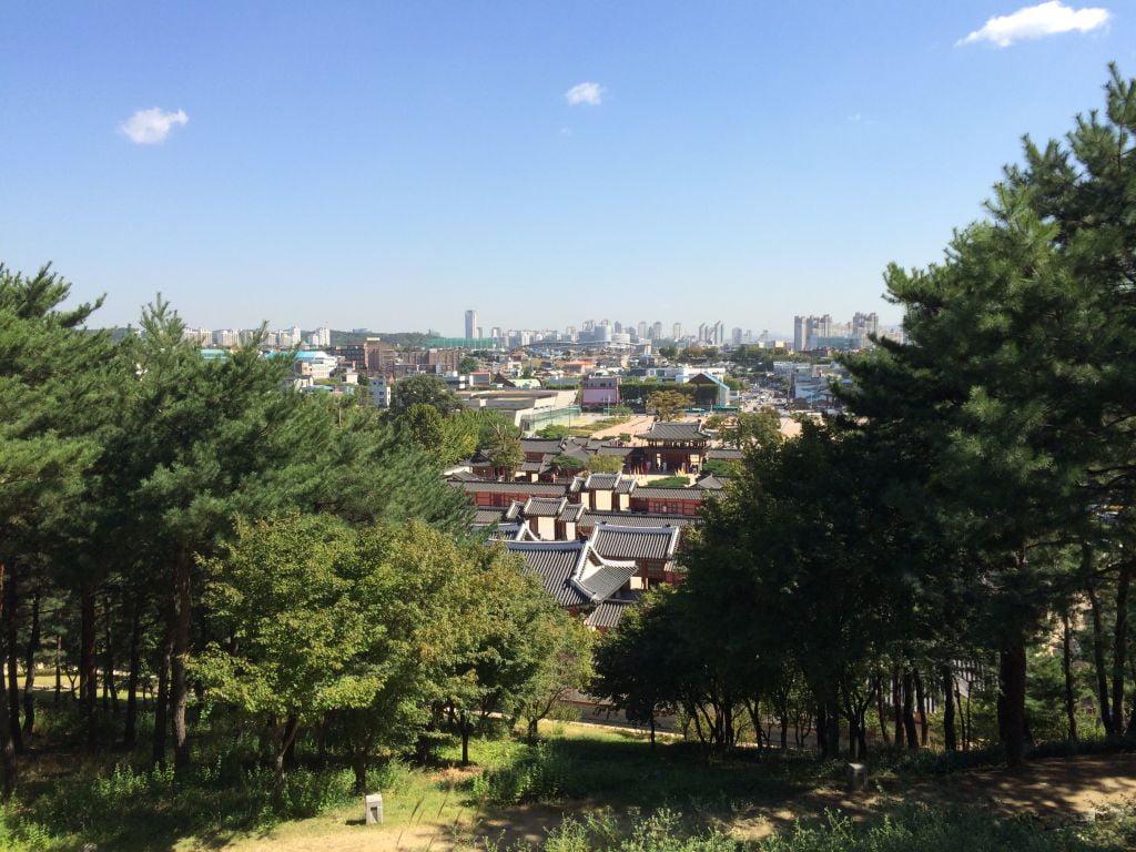 Bovenaanzicht Hwaseong Haenggung Fort