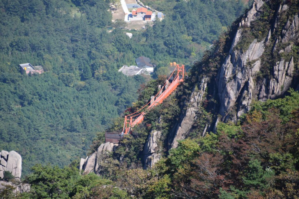 De Gureumdari brug in Wolchulsan National Park