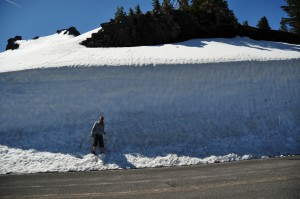 Sneeuw in Crater Lake National Park